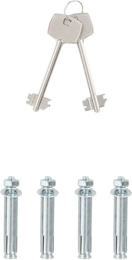 vidaXL Kluis mechanisch 35x25x25 cm staal donkergrijs