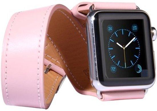 Kakapi Leren bandje - Apple Watch Series 1/2/3/4 (38&40mm) - Roze