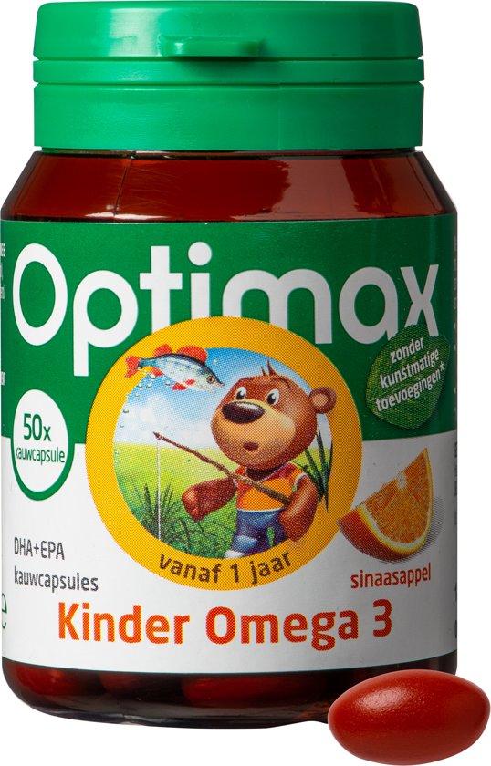 Optimax Kinder Omega-3 - 50 Kauwcapsules - Visolie - Voedingssupplement