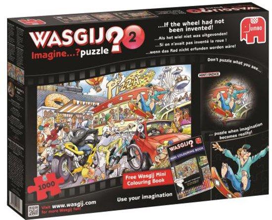 Wasgij Imagine deel 2 - Puzzel 1000 stukjes - met gratis Wasgij kleurboek