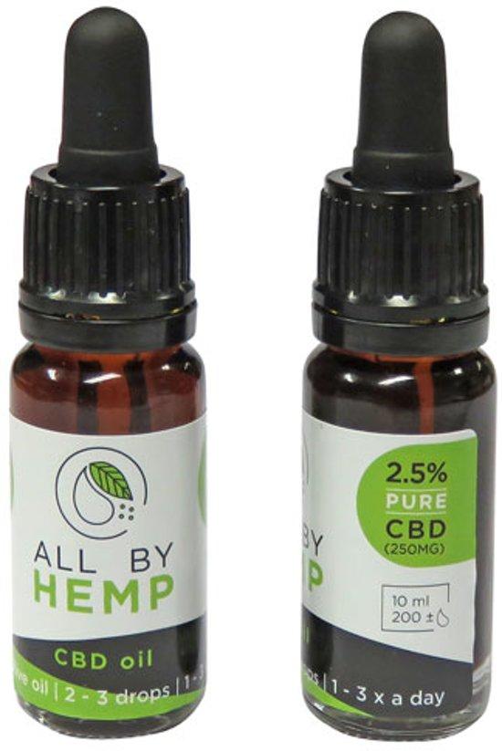 All by Hemp 2,5% CBD olie (10ml)