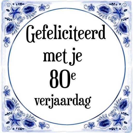 Gefeliciteerd 80 Jaar