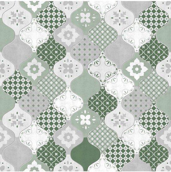 Super bol.com   Home tegels groen/grijs behang (vliesbehang, groen) @NX94