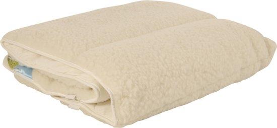 Snoozing Texel wol onderdeken - Wit - Lits-jumeaux (160x200 cm)