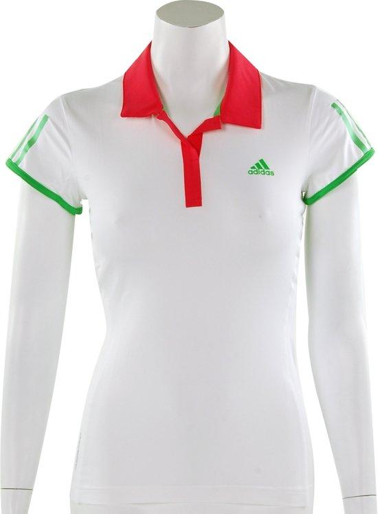 9f0da906a86 adidas Women's Barricade Cap Polo - Sportpolo - Dames - Maat 44 -  White;Fresh