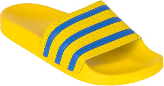 6b7422f2f7a bol.com | adidas Adilette - Slippers - Unisex - Maat 38 - Geel/Blauw