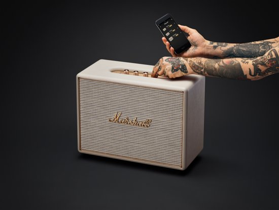 Marshall Woburn wifi luidspreker cream