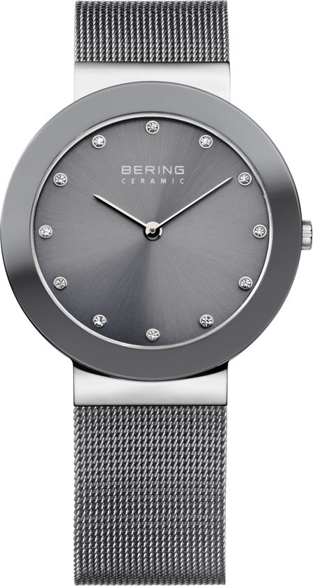 BERING 11435-389 - Horloge - Staal - Grijs - 35 mm