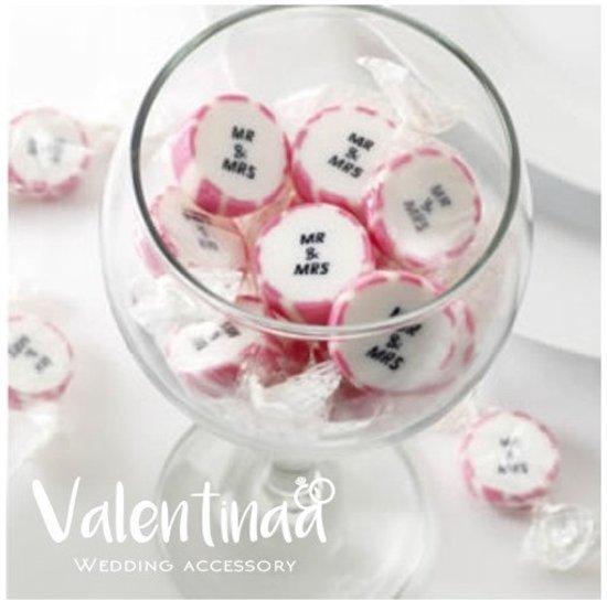 Snoepjes Mr & Mrs roze