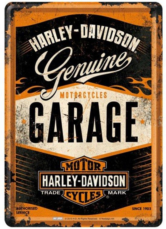 Harley-Davidson - Genuine Garage Metalen  Postcard 10x14 cm