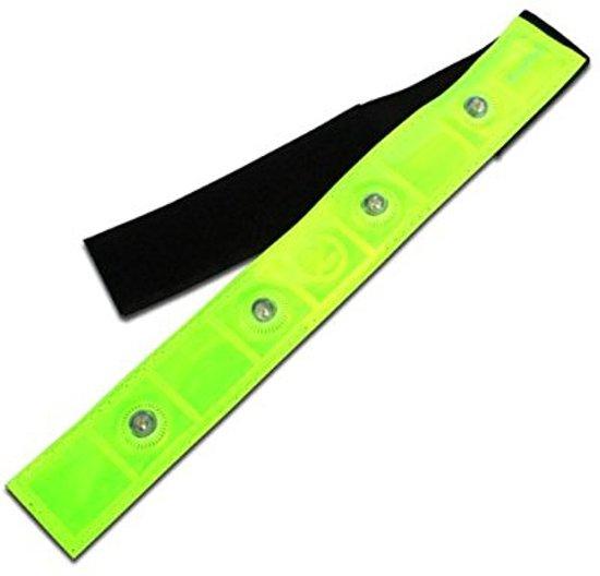 Rood Lichtgevende LED Veiligheidsband - 2 Stuks - Inclusief Batterij |  Knipperend of Brandend Licht | Armband | Knipperende Hardloopband | Veilig Hardlopen Band | Wandelen | Sporten