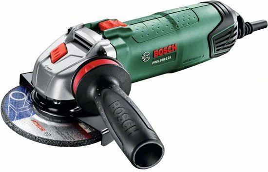 Bosch PWS 850-125 Haakse slijper - 850 Watt - 125 mm schijfdiameter - Met diamantschijf ø125 mm