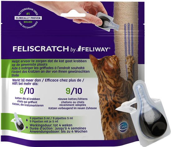 Feliway Feliscratch Antistress Kat - 9 Pipetten