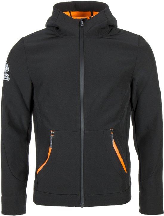 Superdry Mountaineer Softshell  Outdoorjas - Mannen - zwart/oranje