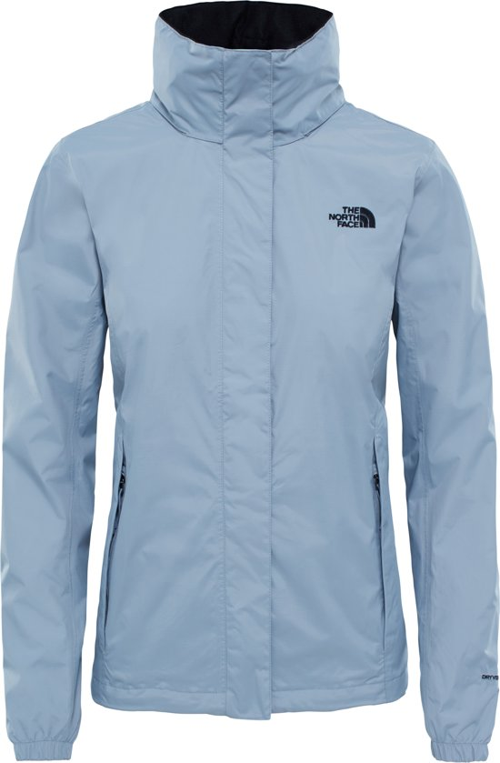 8446bd76fbf The North Face Resolve 2 Jacket Jas Dames - Mid Grey / Tnf Black