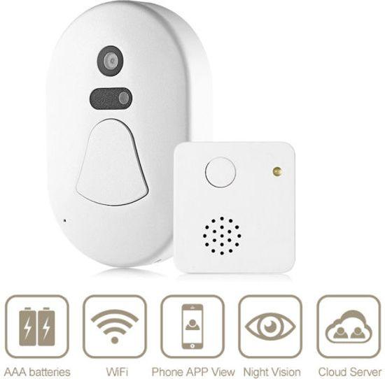 TKSTAR Smart WiFi Camera Deurbel - Zie Overal Wie Er Voor De Deur Staat!