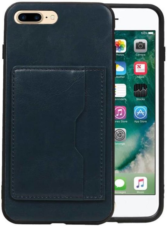796797e1ee5 bol.com | Staand Back Cover 1 Pasjes iPhone 7 Plus / 8 Plus Navy