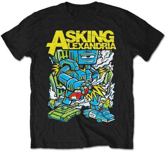 Asking Alexandria - Killer Robot heren unisex T-shirt zwart - S