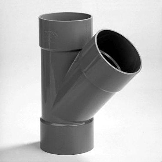 Dyka T-stuk 3x lijmmof 45° PVC keurmerk BRL52100 32 x 32mm