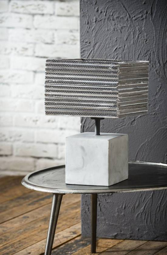 Bedwelming bol.com | Duverger Tafellamp Carta 1L beton voet, karton vierkante #UV86