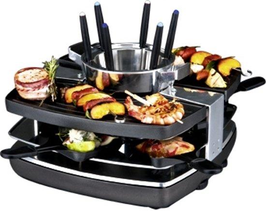 gast raclette fondue set 42559 1400w bk. Black Bedroom Furniture Sets. Home Design Ideas