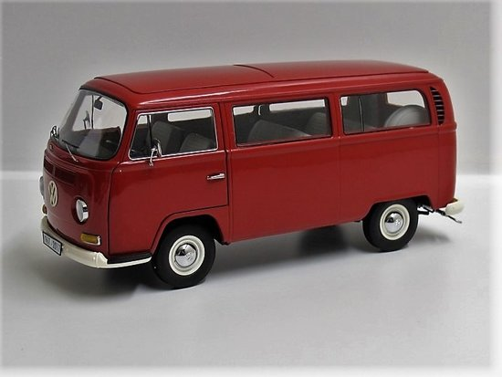 """Schuco 1/18 VW T2a Bus """"Anniverssary Edition 50 Yers VW T2"""", Rood"""