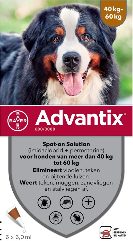Advantix - Spot on - Voor honden van 40+ kg