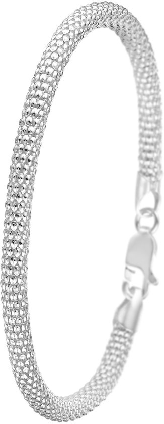 Lucardi - Zilveren armband popcorn 3mm
