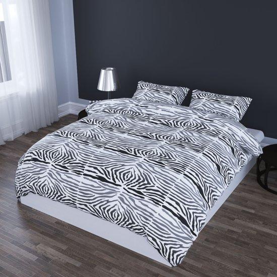 bol.com | Romanette Zebra dekbedovertrek Zwart 1-persoons (140x200 ...