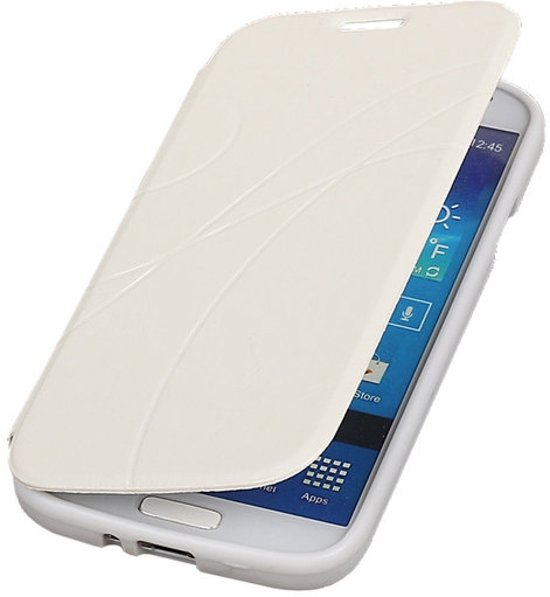 Bestcases Wit TPU Booktype Motief Hoesje Samsung Galaxy S4