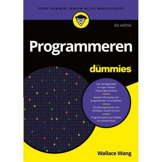 Boek cover Programmeren voor Dummies van Wallace Wang (Paperback)