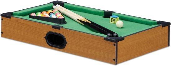 Pooltafel met accessoires  51x31cm - poolbiljart - hout look - mini pool tafel