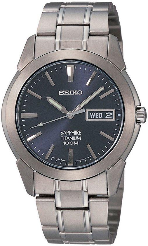 Seiko SGG729P1 horloge heren - grijs - titanium