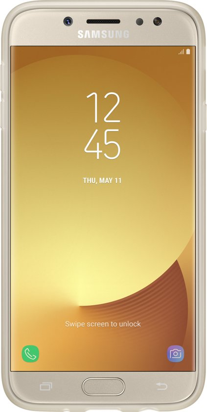 online store c7af1 7351c Samsung jelly cover - gold - for Samsung Galaxy J7 2017