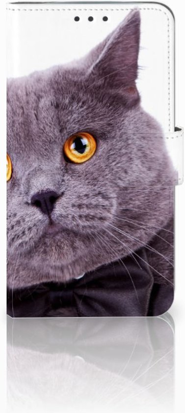Motorola Moto E4 Plus Uniek Boekhoesje Kat