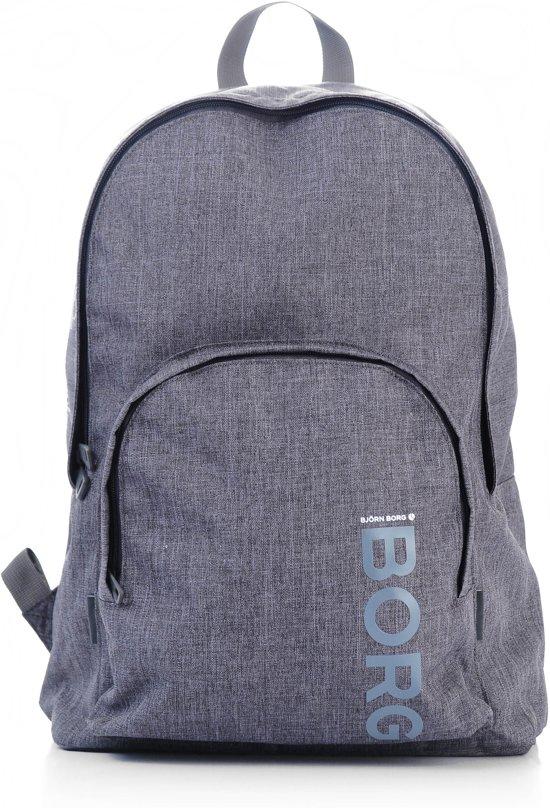 Bjorn Borg Backpack M - Polyester Rugzak - Dark Grey voor €19,95