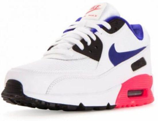 Nike Air Max 90 Essential White Ultramarine Solar Red schoens