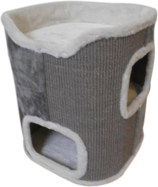 Topmast Krabpaal Krabton  SEVILLA Grijs-Wit 40 * 40 * 50 cm