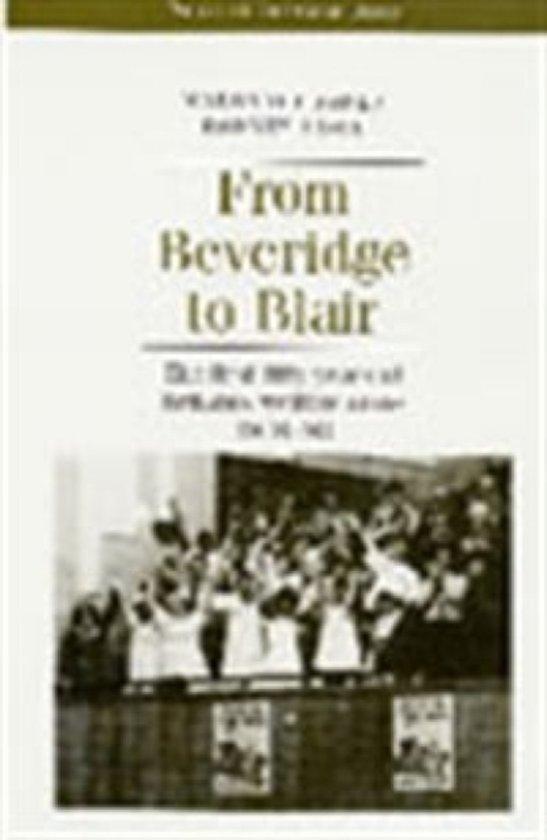 Boek cover From Beveridge to Blair van Margaret Jones (Paperback)