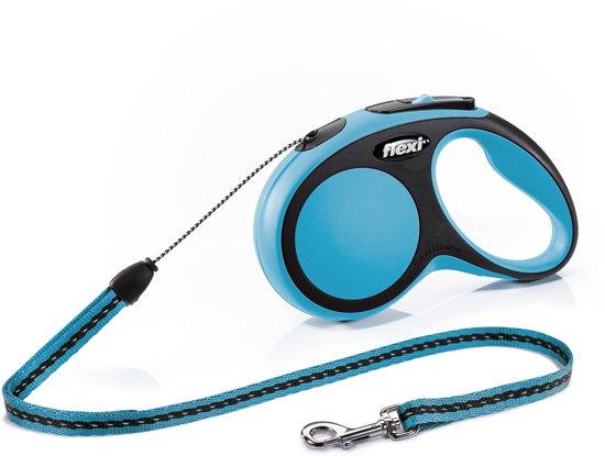 Flexi New Comfort - Hondenriem - Koord - Blauw - S - 5 m