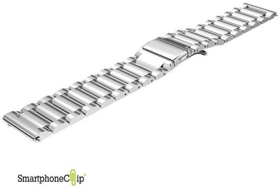 Metaal schakel bandje zilver geschikt voor Samsung Gear S3 & Galaxy Watch 46mm - SmartphoneClip