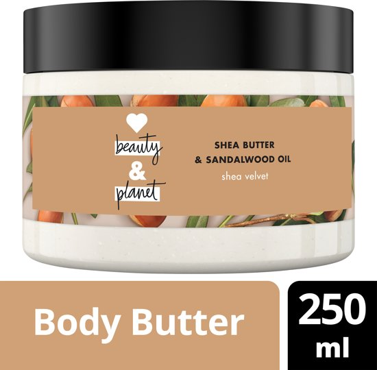Love Beauty and Planet Body Butter Shea Velvet - 250 ml - Shea Butter & Sandalwood Oil