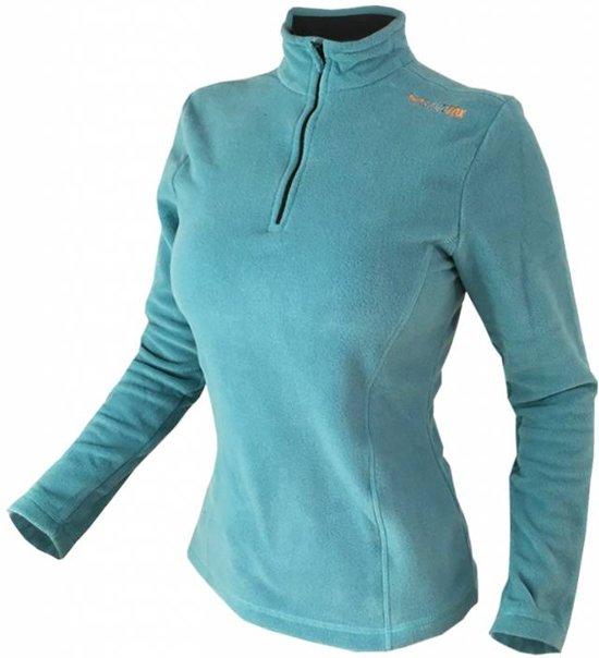 Outdoor fleece trui dames - M - Turquoise hoesje