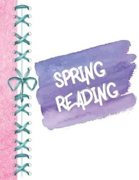 Spring Reading: Pastel Watermark Colors Keep Track of All the Books You Read Journal - Reading Review on Each Page Logbook for Girls