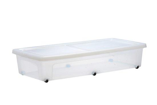 Wieltjes Onder Kast : Bol.com iris clearbox onder het bed opbergbox 35 l kunststof