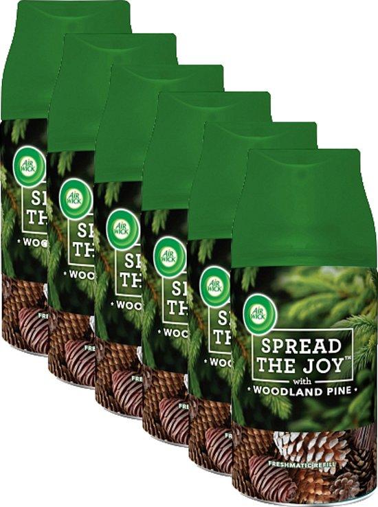 Airwick Freshmatic Woodland Pine - 6 x 250 ml - Navulling - Voordeelverpakking