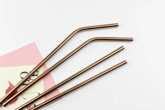 Herbruikbare Metalen Rietjes – RVS Metaal - Koper