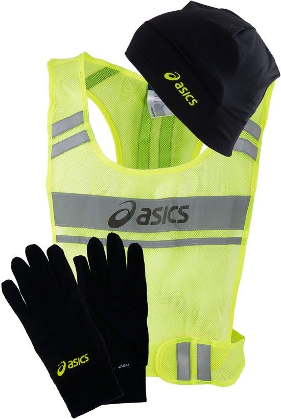 Asics Winterpack Hardloopset  Hardloophandschoenen - zwart/geel