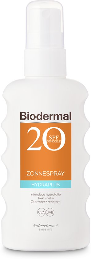 Biodermal Zon - Hydraplus - Zonnespray - SPF 20 - 175ml