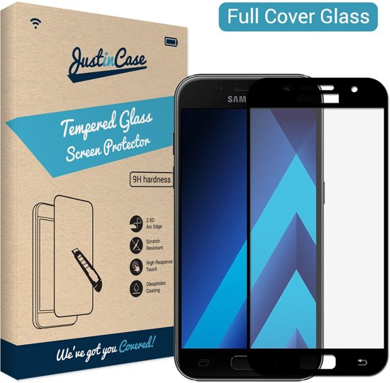 Just in Case Full Cover Tempered Glass Samsung Galaxy A3 (2017) Protector - Black
